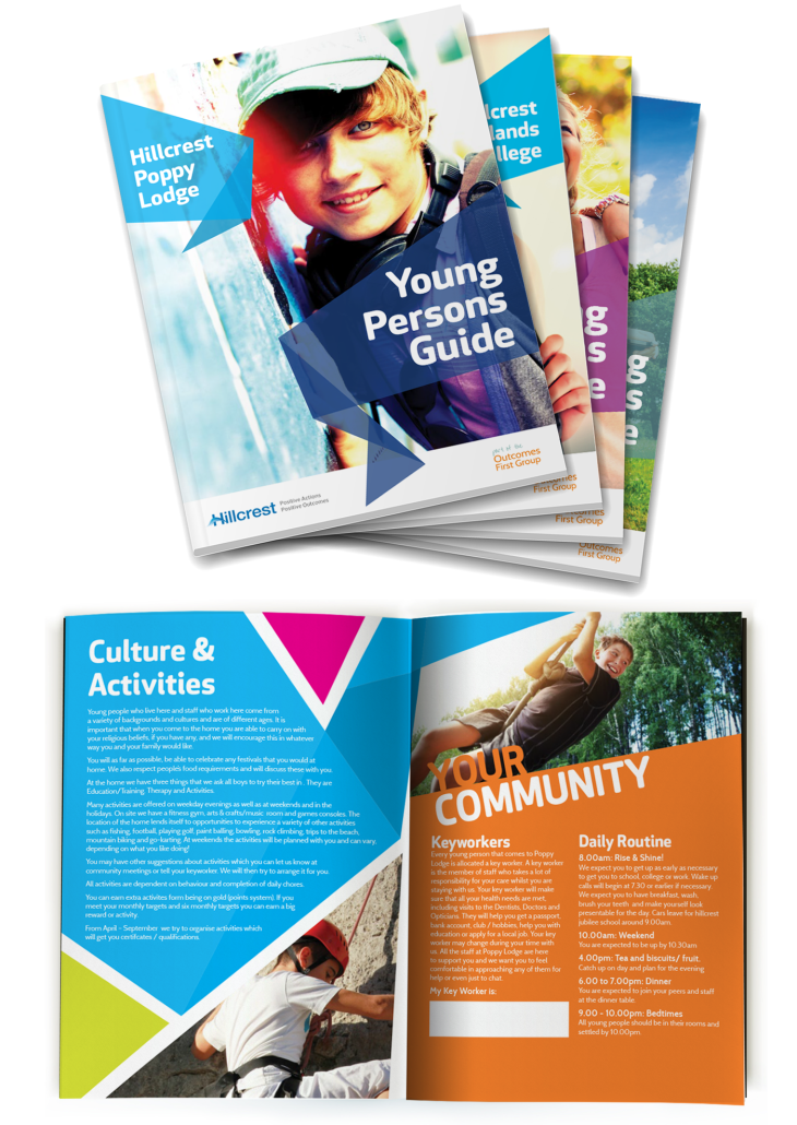Colourful Brochures for Hillcrest Childrens's Services